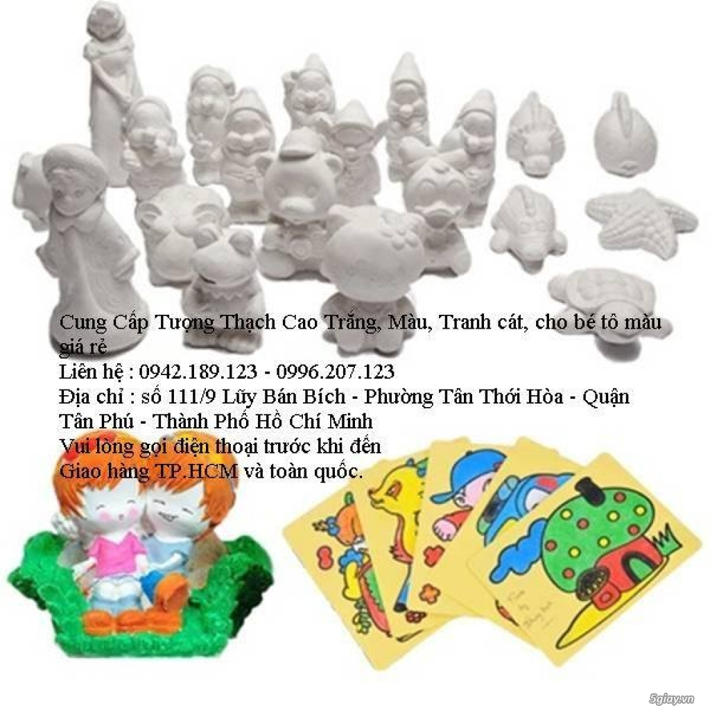 Liên hệ : 0942.189.123 - cung cấp sỉ tượng thạch cao trắng - tranh cát - cát màu - màu nước - 8