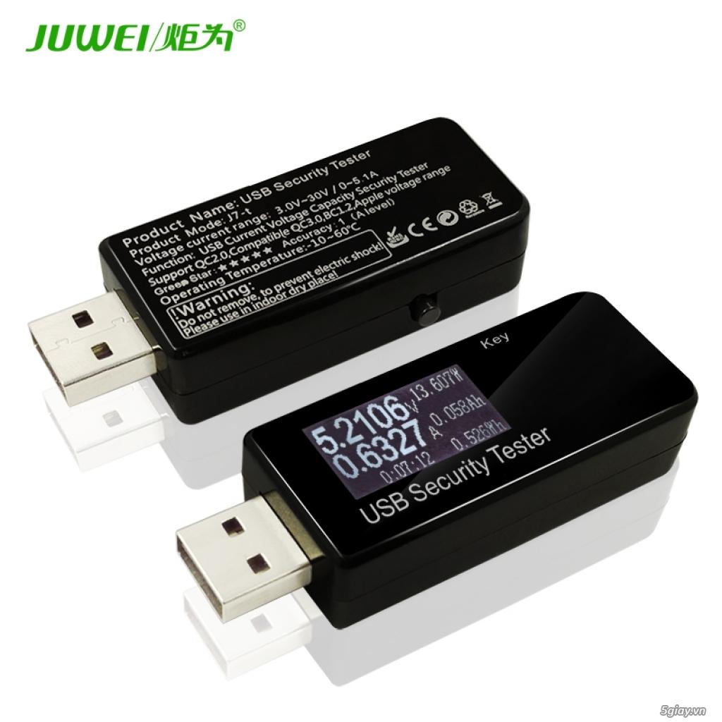 Bộ USB test đo dòng sạc điện thoại, kiểm tra pin sạc dự phòng, cục sạc - 7