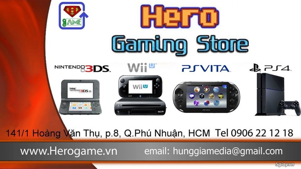HERO GAME | Bán máy Nintendo SWITCH / 2DS/ 3DS / New 3DS XL , Sony PS Vita/ PS3/ PS4...rẻ nhất - 1