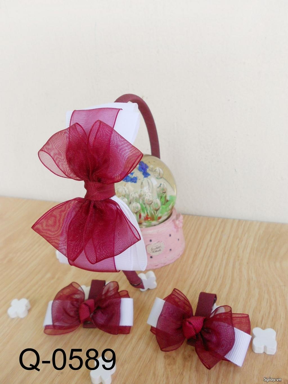 Phụ kiện handmade :turban, băng đô, cột, kẹp, nơ bướm - 5