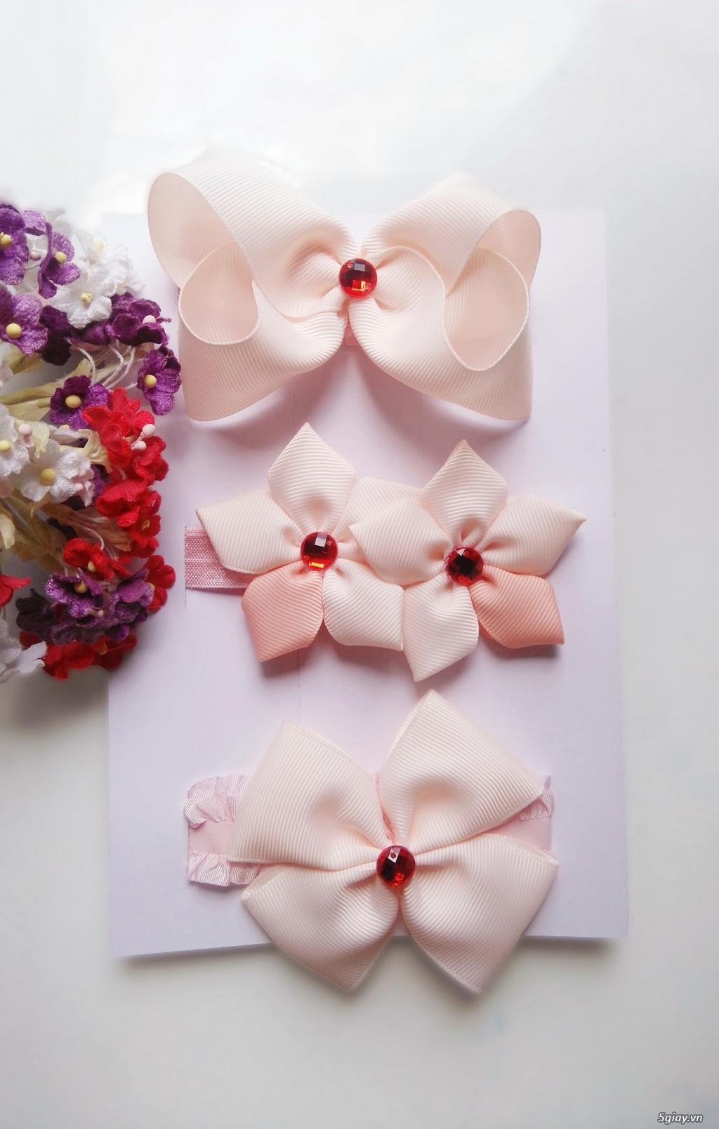 Phụ kiện handmade :turban, băng đô, cột, kẹp, nơ bướm - 3