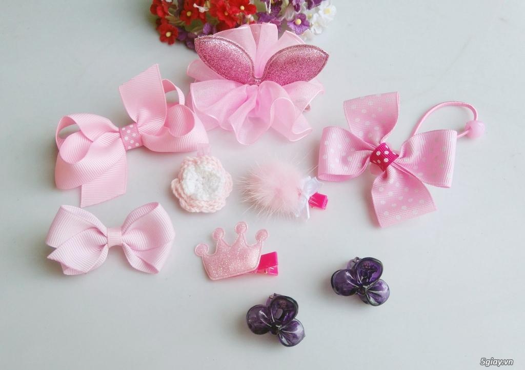 Phụ kiện handmade :turban, băng đô, cột, kẹp, nơ bướm