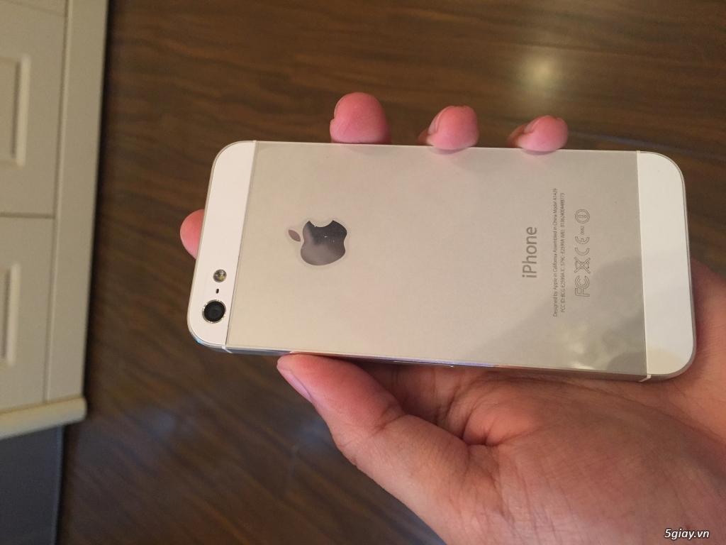 Bán iPhone 5 32GB màu trắng full phụ kiện - 1