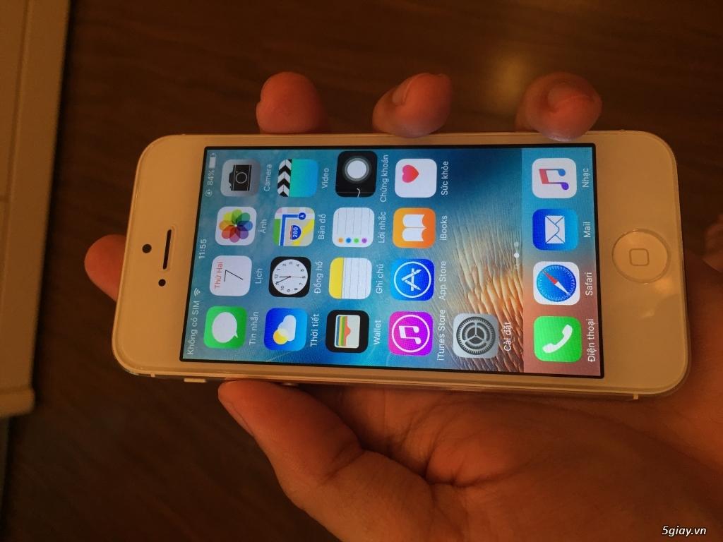 Bán iPhone 5 32GB màu trắng full phụ kiện - 4