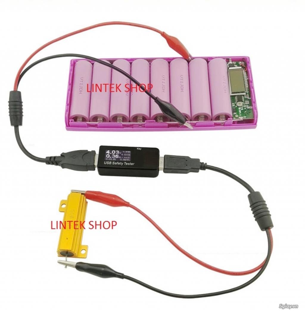 Bộ USB test đo dòng sạc điện thoại, kiểm tra pin sạc dự phòng, cục sạc - 14