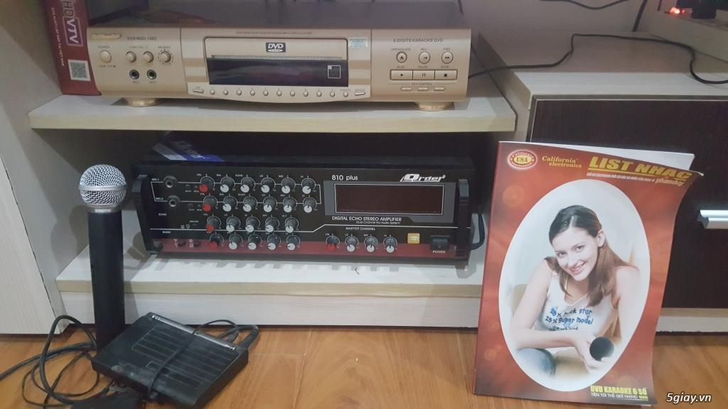 Thanh lý dàn DVD karaoke California, Amply Order,micro không dây Shure - 5