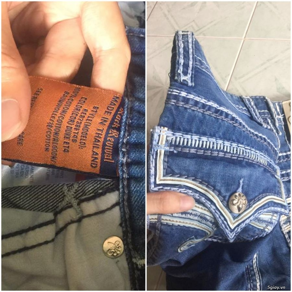Quần jean si đa ( 2hand ) của các hãng Ông địa , D&G , A/X...  nhập từ USA , Italy ... - 18