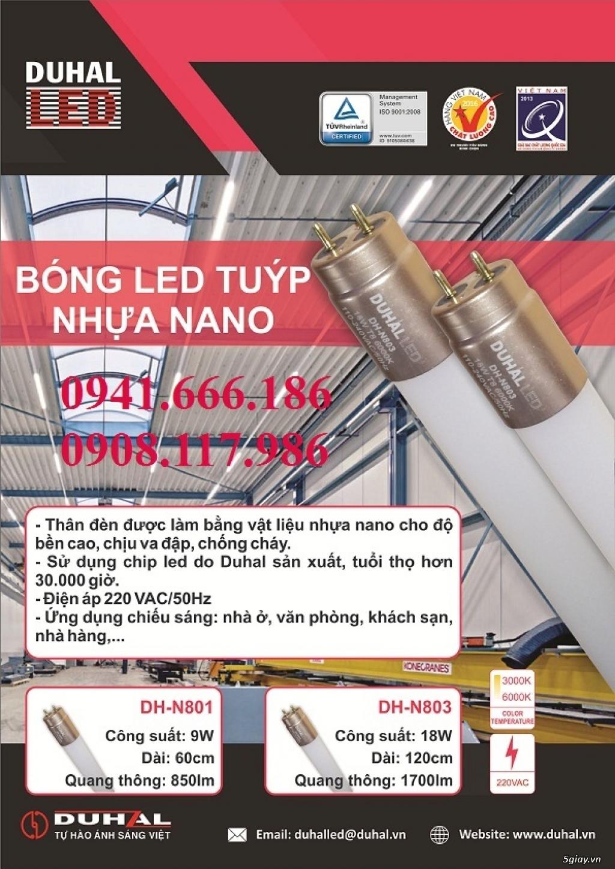 Bộ đèn led 1.2m Duhal (bao gồm bóng led và máng nhôm) - 1