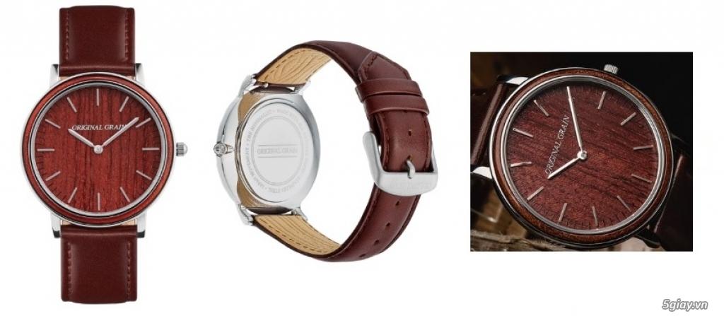 HCM - Đồng hồ ốp gỗ của Original Grain Watches fullbox new 100% từ USA - 3