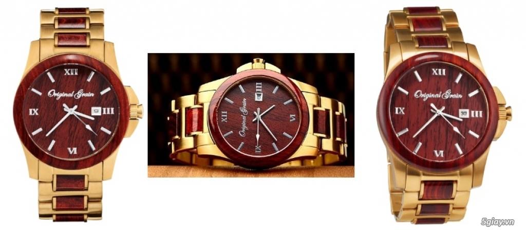 HCM - Đồng hồ ốp gỗ của Original Grain Watches fullbox new 100% từ USA - 7