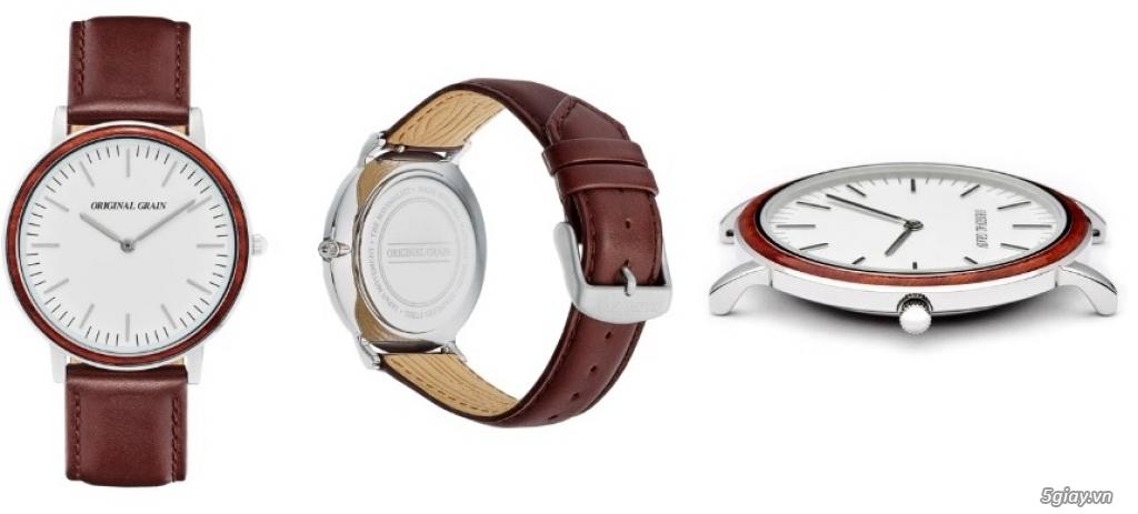HCM - Đồng hồ ốp gỗ của Original Grain Watches fullbox new 100% từ USA - 2