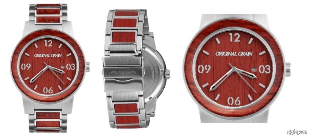 HCM - Đồng hồ ốp gỗ của Original Grain Watches fullbox new 100% từ USA - 9