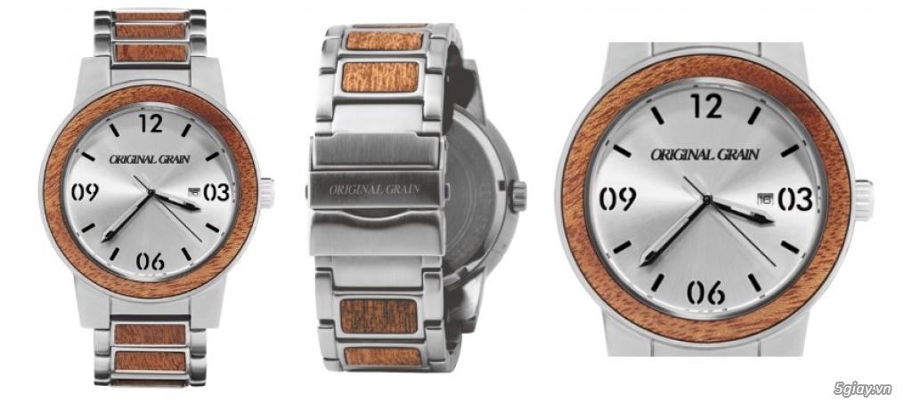 HCM - Đồng hồ ốp gỗ của Original Grain Watches fullbox new 100% từ USA - 8