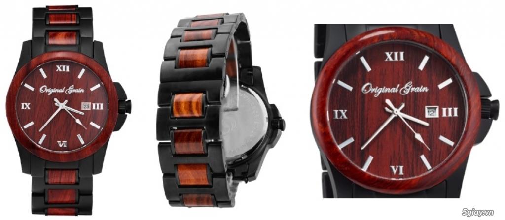 HCM - Đồng hồ ốp gỗ của Original Grain Watches fullbox new 100% từ USA - 6