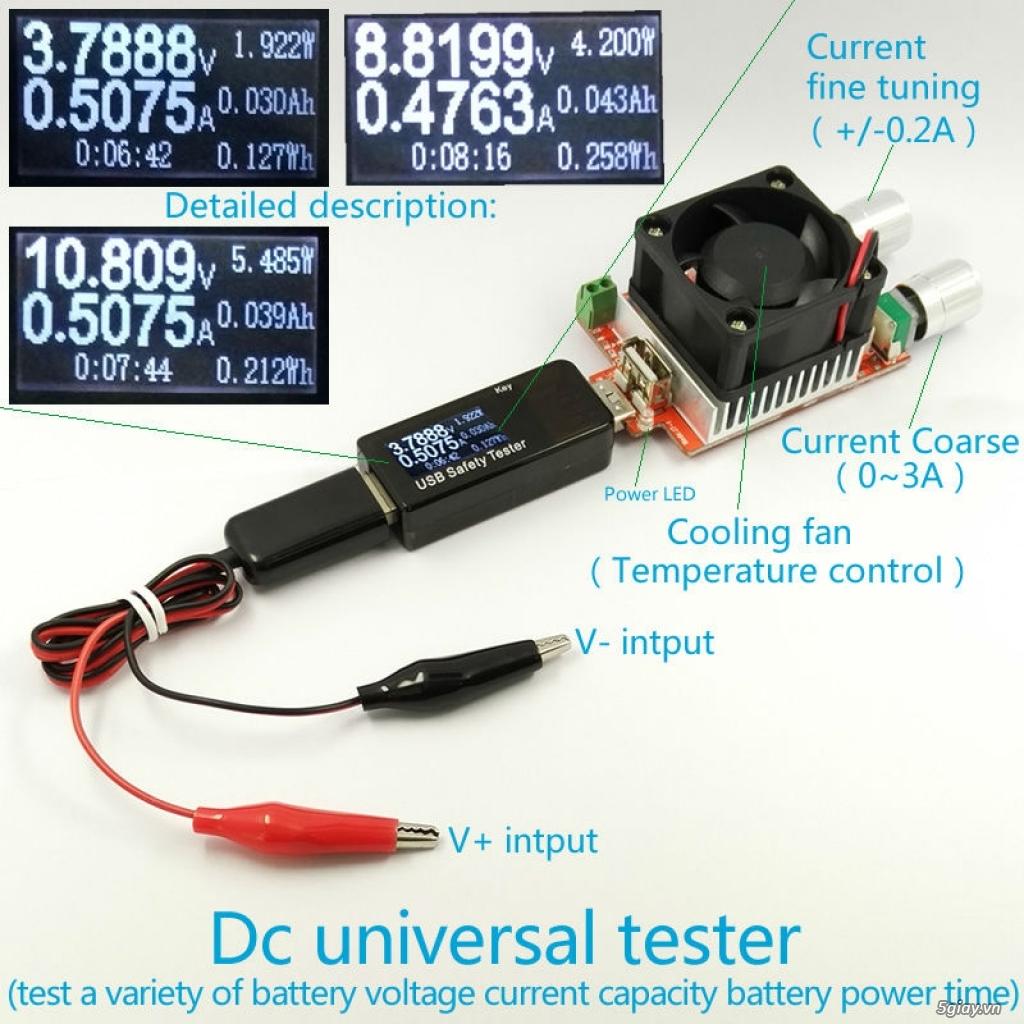 Bộ USB test đo dòng sạc điện thoại, kiểm tra pin sạc dự phòng, cục sạc - 17