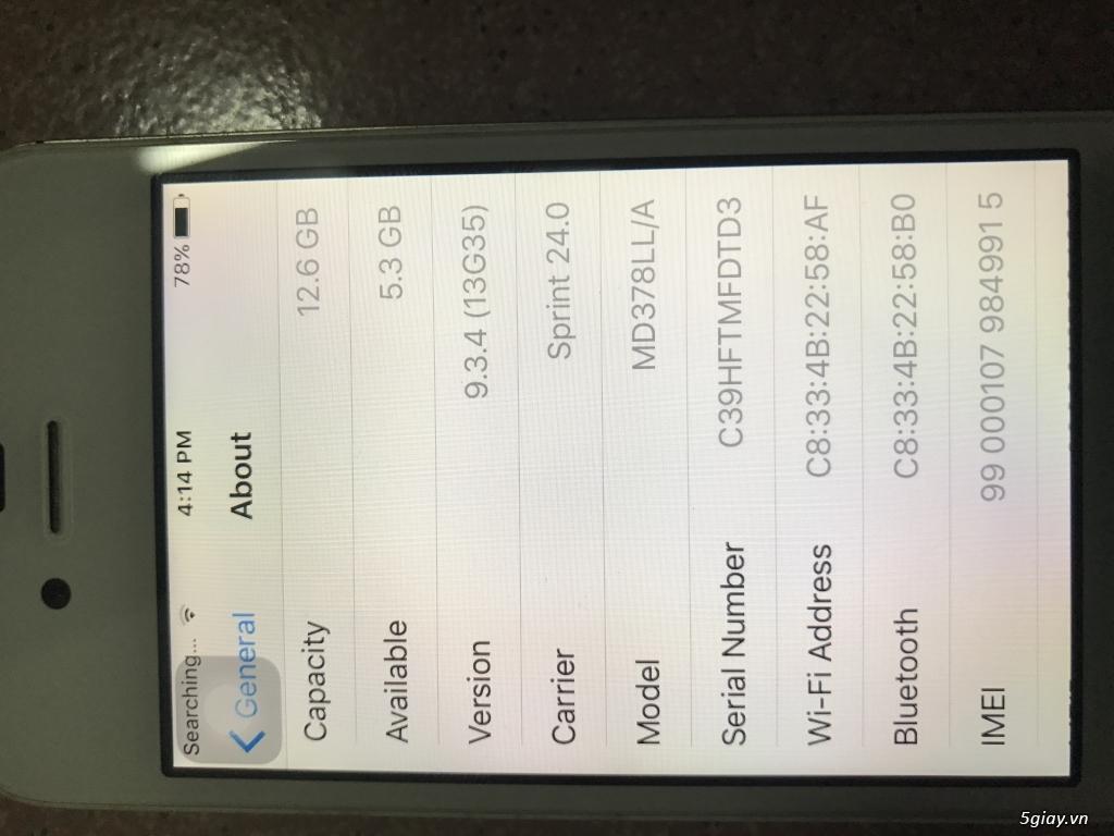 Iphone 4s Lock sprint 16G  white - 2