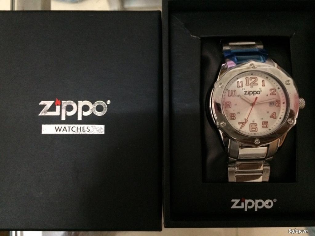 Đồng hồ Zippo hàng hiệu xách tay, tặng bật lửa cá tính - 4