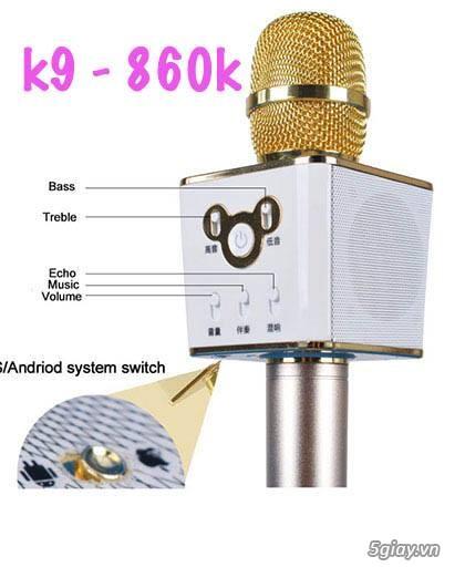 Siêu phẩm Micro Karaoke di động K9