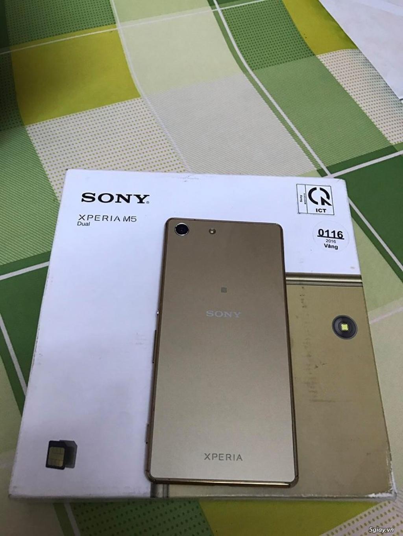 Bán điện thoại Sony M5 dual 32gb gold - 3
