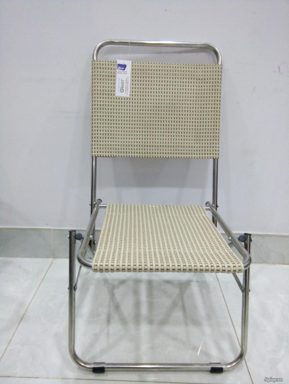 ghế xếp inox hiệu Obent chất lượng tốt, giá hợp lý, nhiều màu . - 4