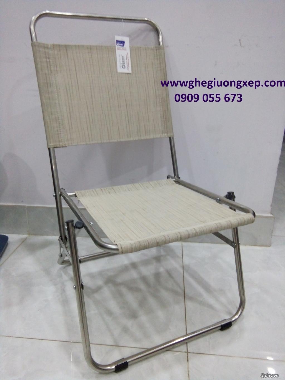 ghế xếp inox hiệu Obent chất lượng tốt, giá hợp lý, nhiều màu . - 2