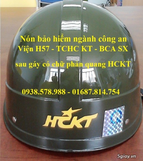 Nón bảo hiểm công an HCKT - mũ bảo hiểm hậu cần kỹ thuật - nón hckt - 4