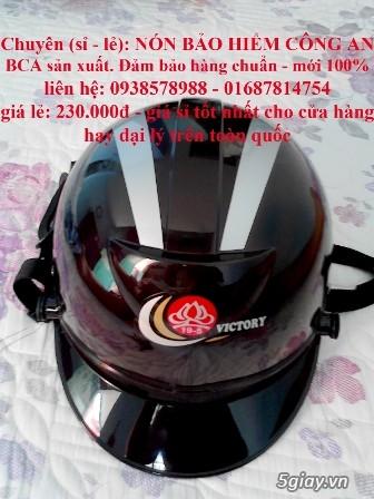 Nón bảo hiểm công an HCKT - mũ bảo hiểm hậu cần kỹ thuật - nón hckt - 6