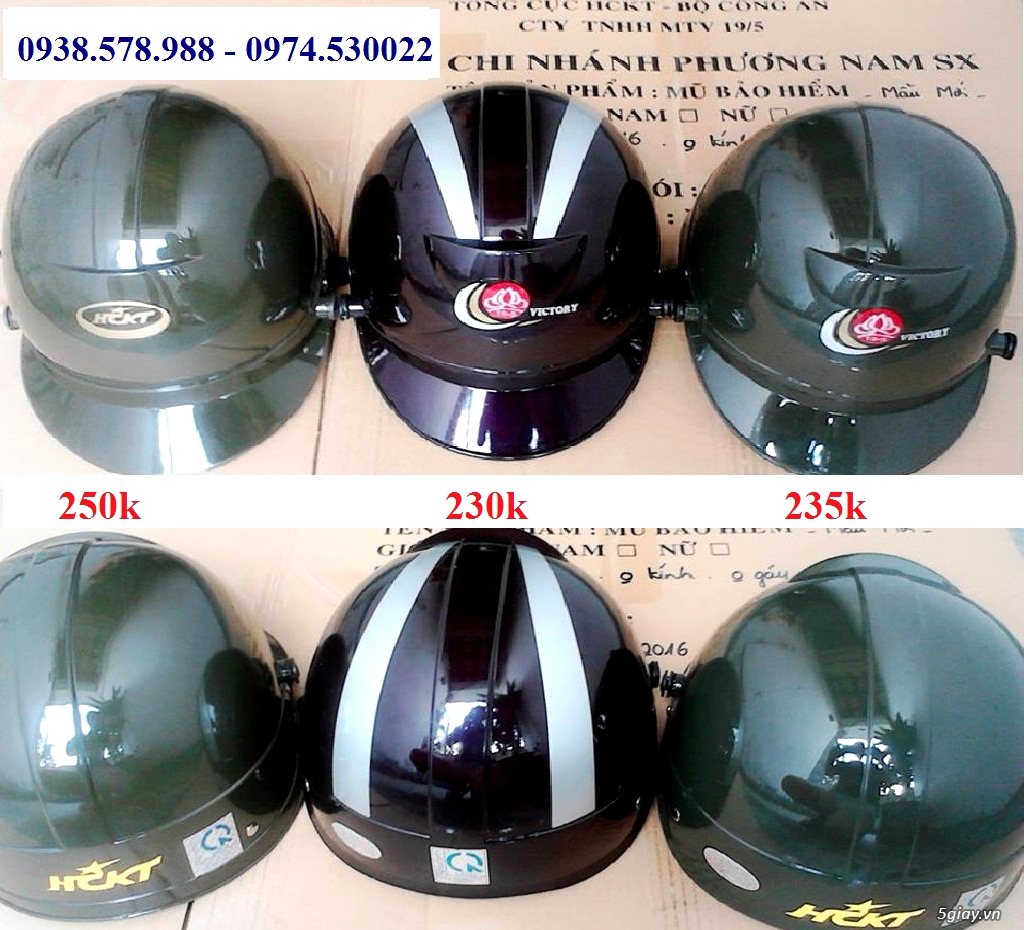 Nón bảo hiểm công an HCKT - mũ bảo hiểm hậu cần kỹ thuật - nón hckt