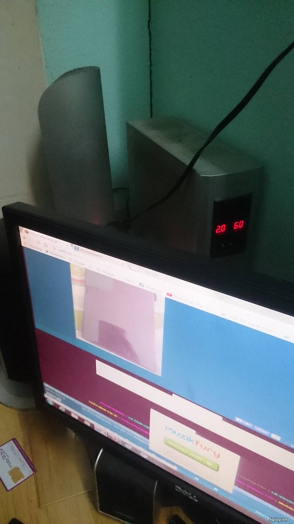 Bộ máy core 2 và dàn loa Microlab 5.1