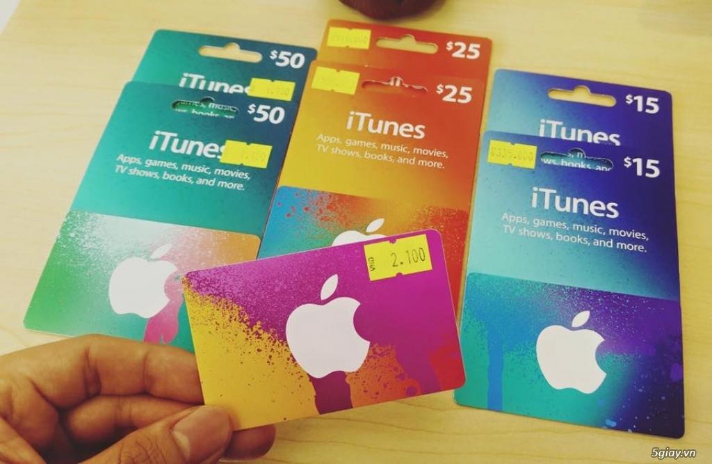Gift Itunes Card MỸ sd mua+ chơi Game và nâng cấp bộ nhớ Icloud cực rẽ - 7