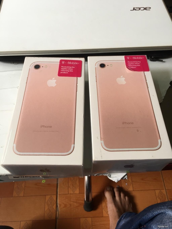 Thanh lý 3 cây Iphone 7 32g Rose Lock mỹ  mới 100% nguyên Seal