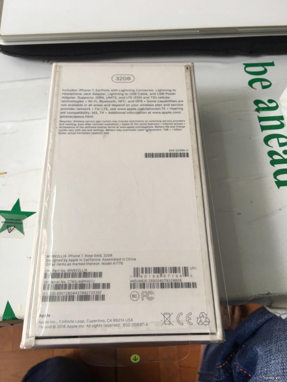 Thanh lý 3 cây Iphone 7 32g Rose Lock mỹ  mới 100% nguyên Seal - 6
