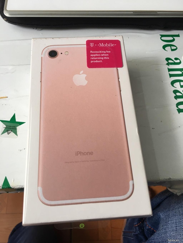 Thanh lý 3 cây Iphone 7 32g Rose Lock mỹ  mới 100% nguyên Seal - 4