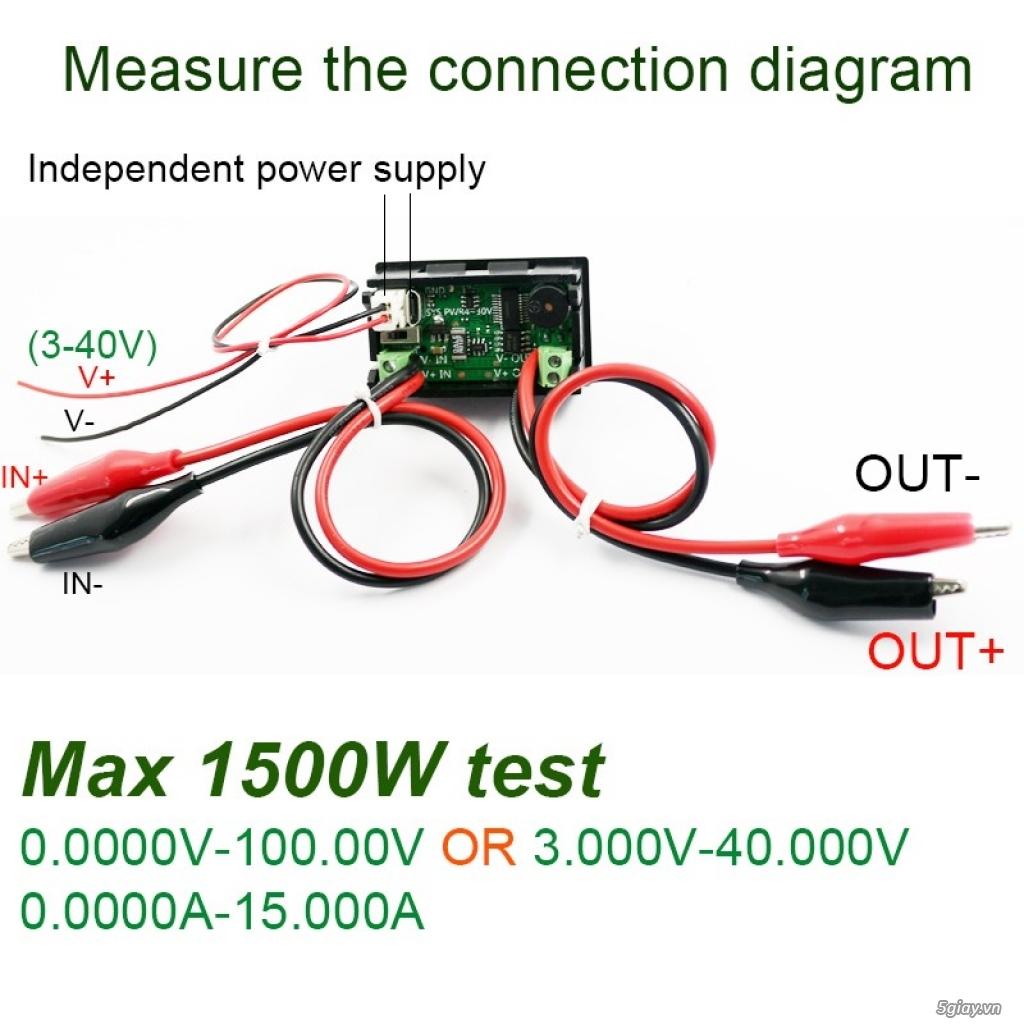 Bộ USB test đo dòng sạc điện thoại, kiểm tra pin sạc dự phòng, cục sạc - 19