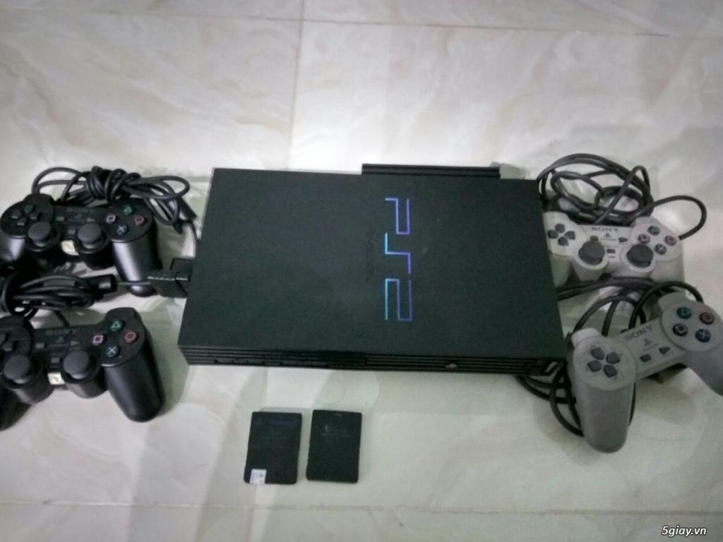 Thanh lý máy PS2 ổ cứng 40Gb, 4 tay cầm, 2 save,..giá bèo