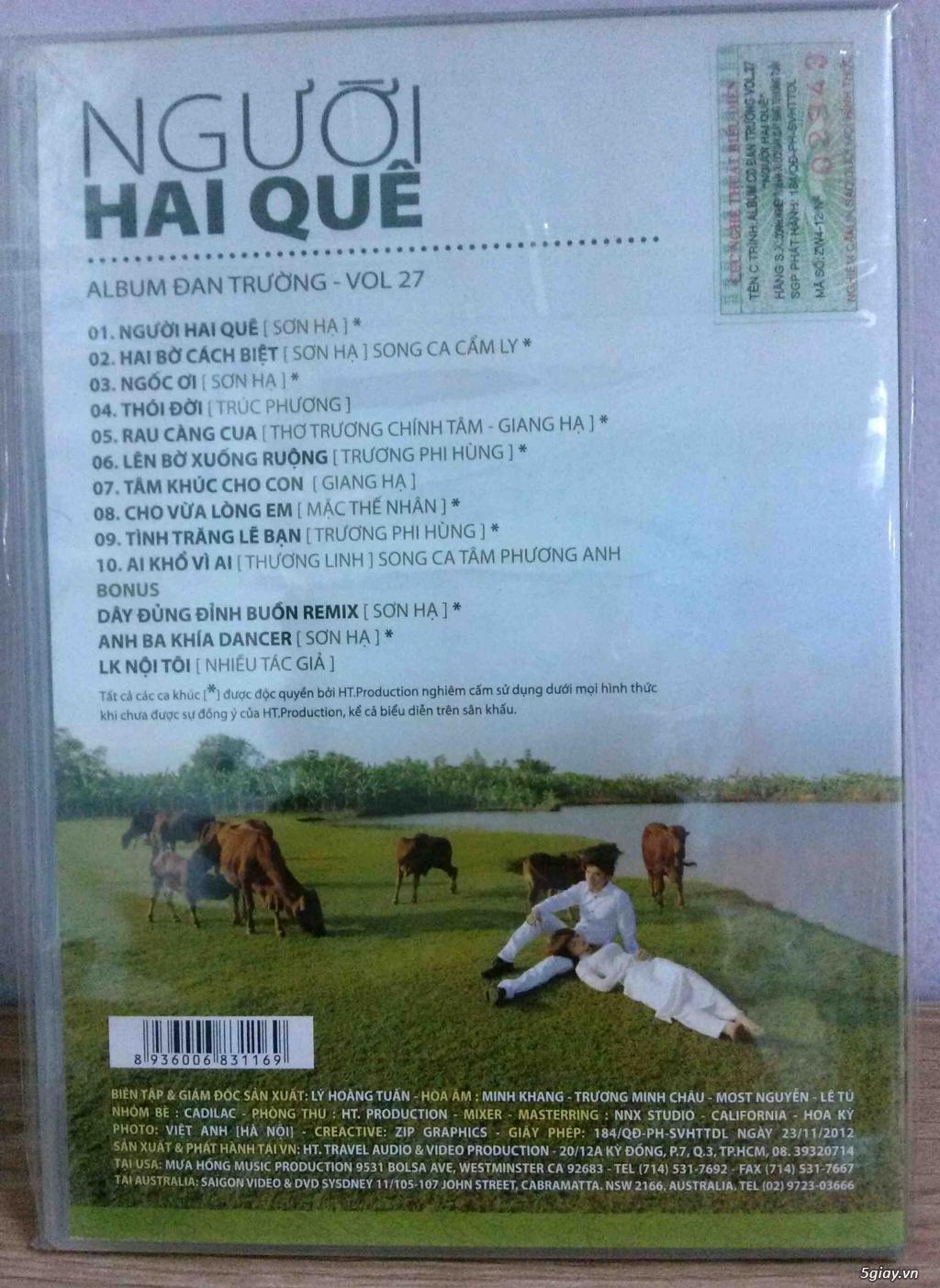 Cần bán một vài Đĩa CD nhạc Việt gốc mới 90-100% - 1