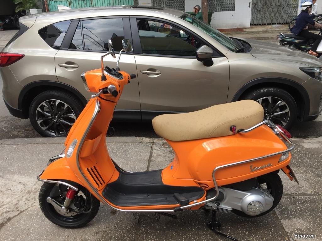 Vespa s 125ie đèn vuông màu cam xe keng - 1