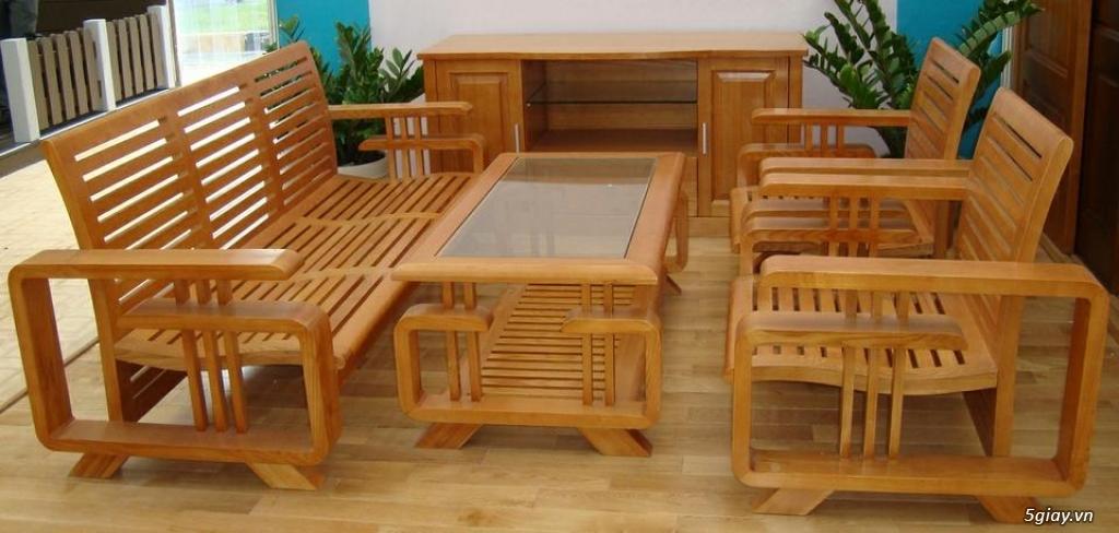 bàn ghế gỗ sồi , sofa gỗ hà nội - 7