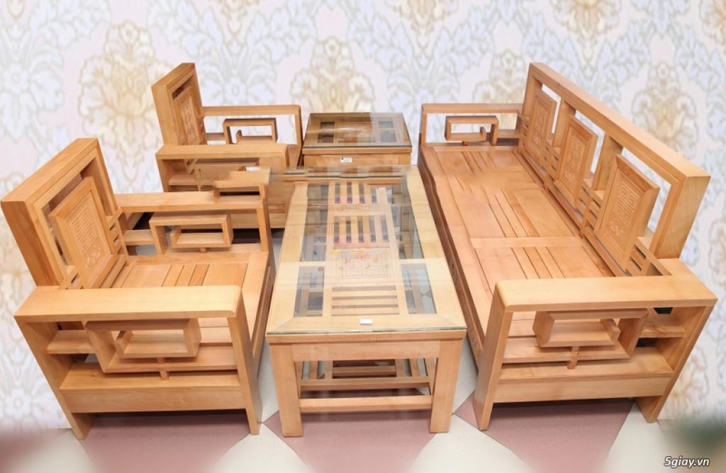 bàn ghế gỗ sồi , sofa gỗ hà nội - 1