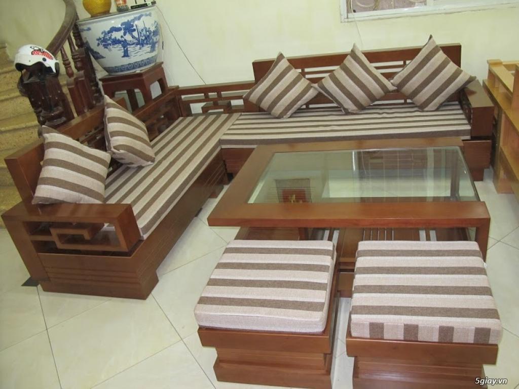 bàn ghế gỗ sồi , sofa gỗ hà nội - 4