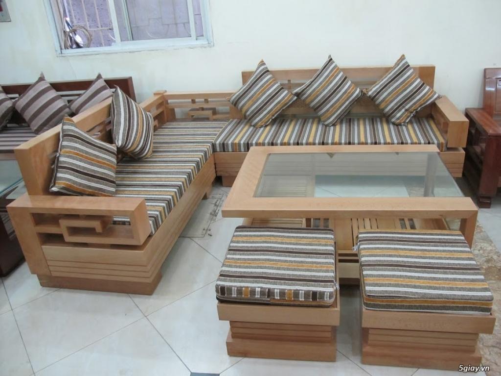 bàn ghế gỗ sồi , sofa gỗ hà nội - 5