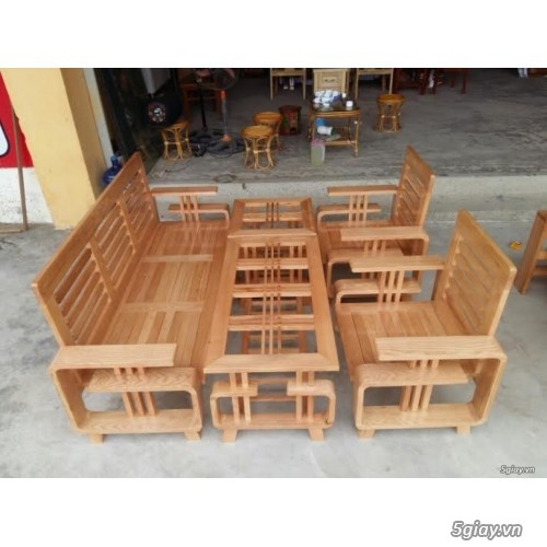 bàn ghế gỗ sồi , sofa gỗ hà nội - 3
