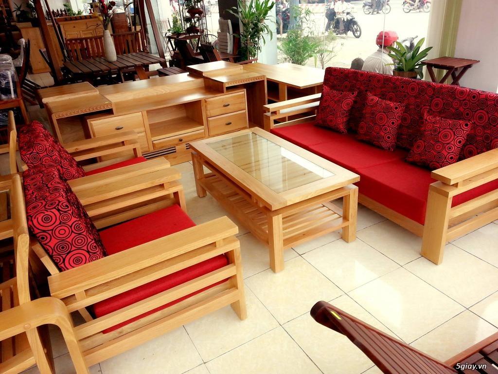bàn ghế gỗ sồi , sofa gỗ hà nội - 8