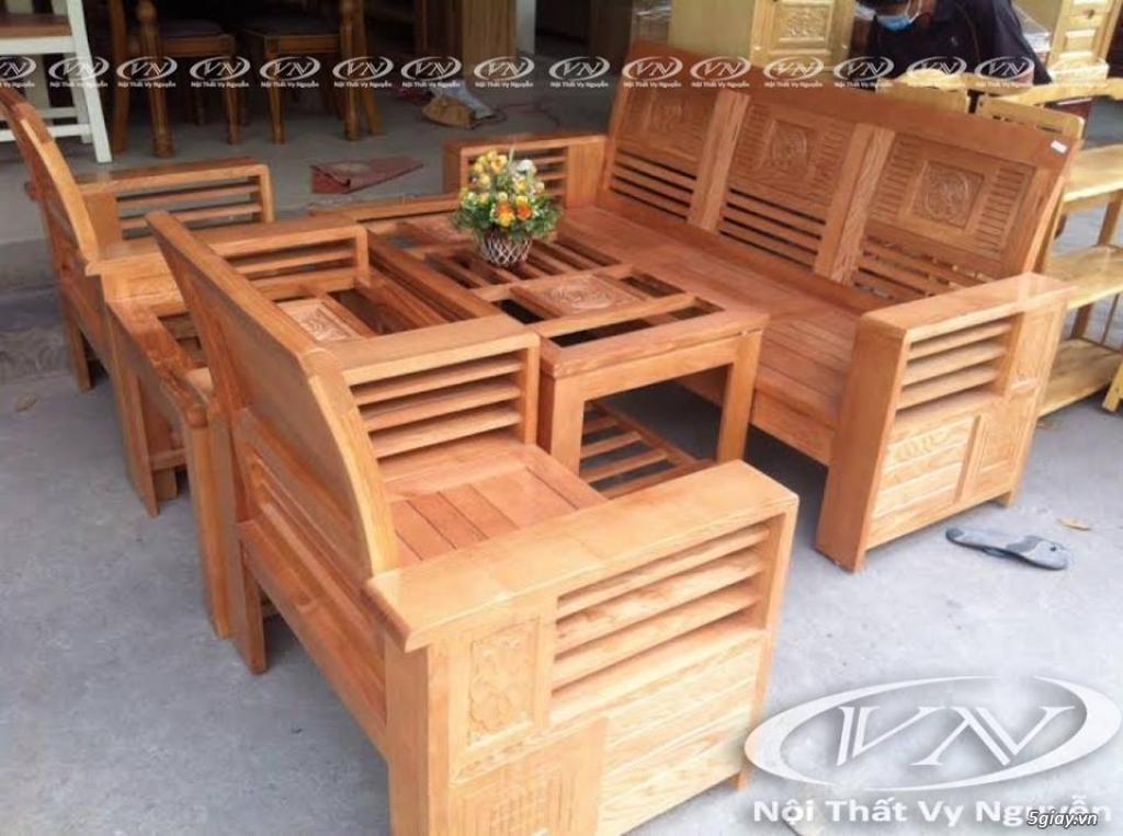 bàn ghế gỗ sồi , sofa gỗ hà nội - 6