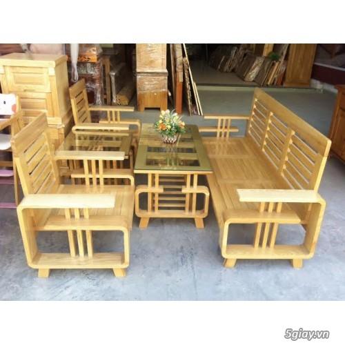 bàn ghế gỗ sồi , sofa gỗ hà nội - 2