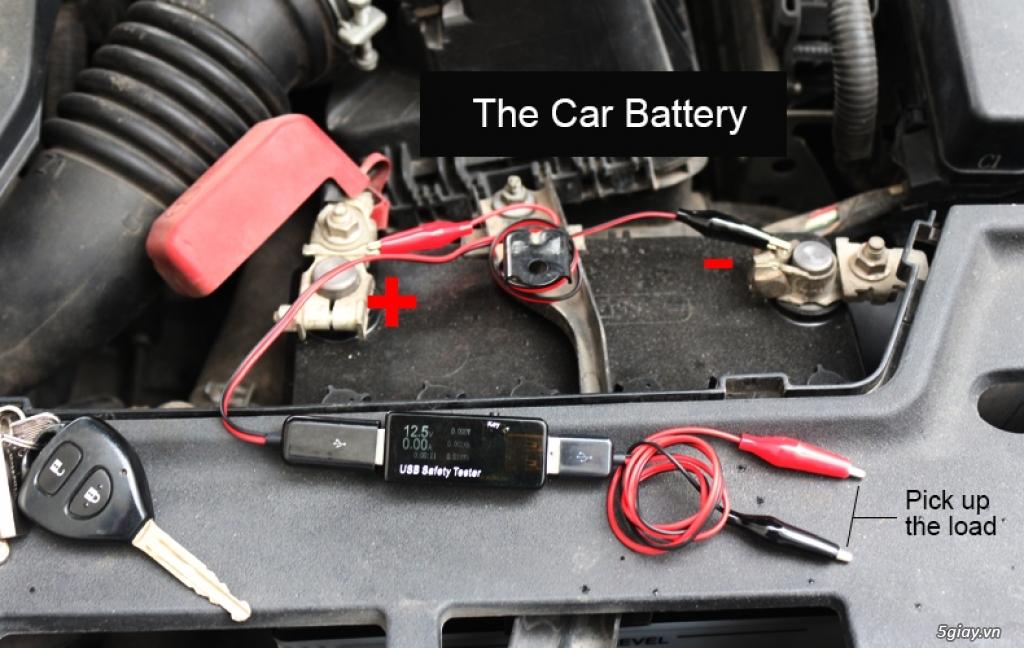 Bộ USB test đo dòng sạc điện thoại, kiểm tra pin sạc dự phòng, cục sạc - 15