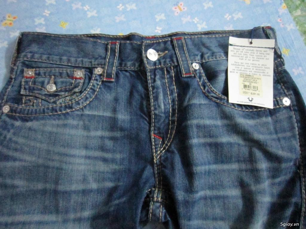 hàng hiệu ship từ mỹ:quần jean-kính true regilion (ông địa) nguyên tag - 1