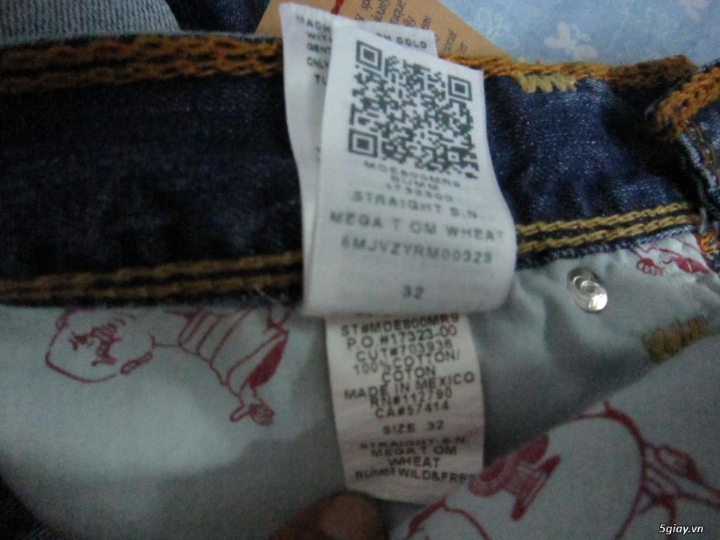 hàng hiệu ship từ mỹ:quần jean-kính true regilion (ông địa) nguyên tag - 2