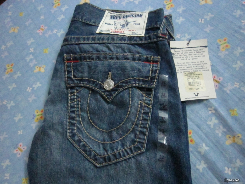 hàng hiệu ship từ mỹ:quần jean-kính-nón true regilion (ông địa)..ĐHồ