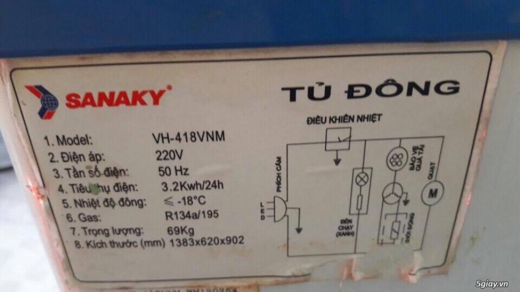 Sang quán nên cần thanh lý tủ đông Tủ đông Sanaky 418l tiết kiệm điện - 1